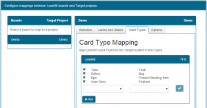 LeanKit Integration Card Types