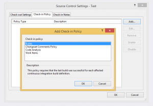 Visual Studio Online Check-In Policies