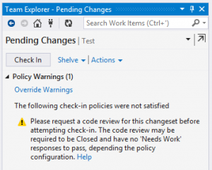 Visual Studio Online Check In Policies Codeopinion