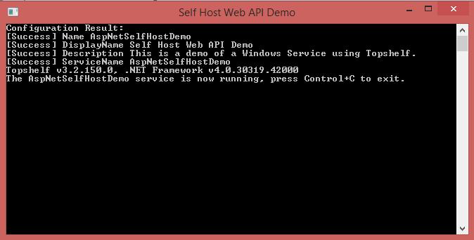 Self Host ASP.NET Web API