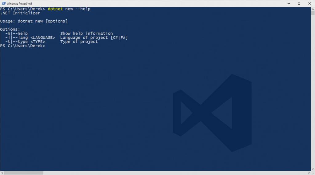 .NET CLI New Command