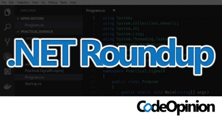 Roundup #55: .NET Core 3, F# 4.7, AWS joins .NET Foundation, .NET Foundation Maturity Model, Finding Service Boundaries
