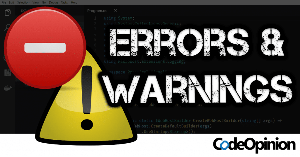 Configuring Errors and Warnings in C#