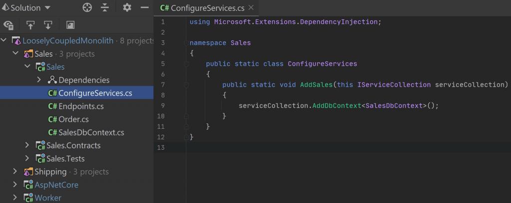 ConfigureServices